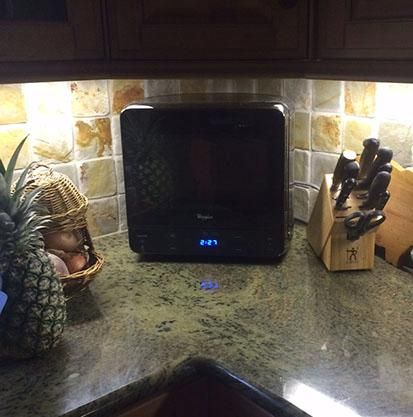 Whirlpool 0 5 Cu Ft Countertop Microwave In Universal Silver Wmc20005yd The Home Depot Countertop Microwave Sleek Microwave Countertops