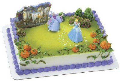 Cinderella and Fairy Godmother Cake Kit Princess Cake Decorations
