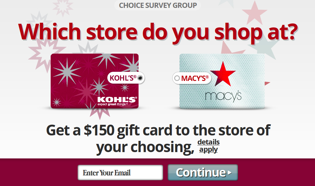 Macy S Vs Kohl S Gift Card For Your Favourite Store United States Monkey Offers Dollar Gift Gift Card Cards