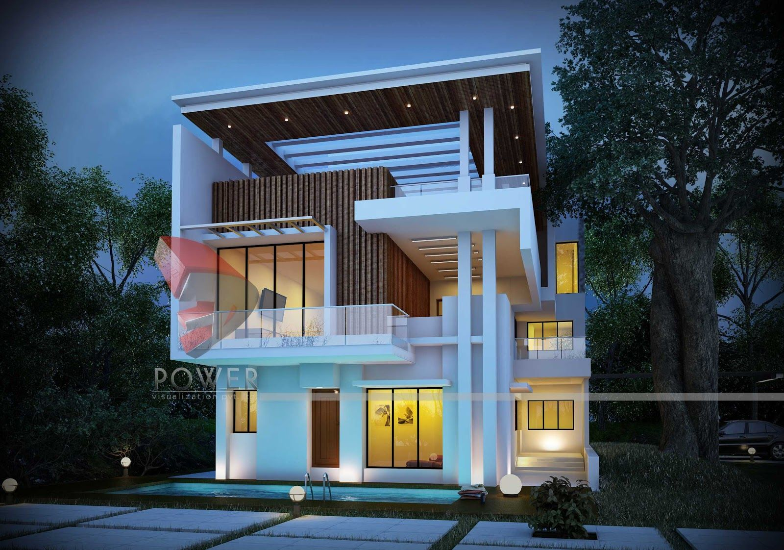 Modern architecture 3d architecture design modern for Architecture design for home in rajkot