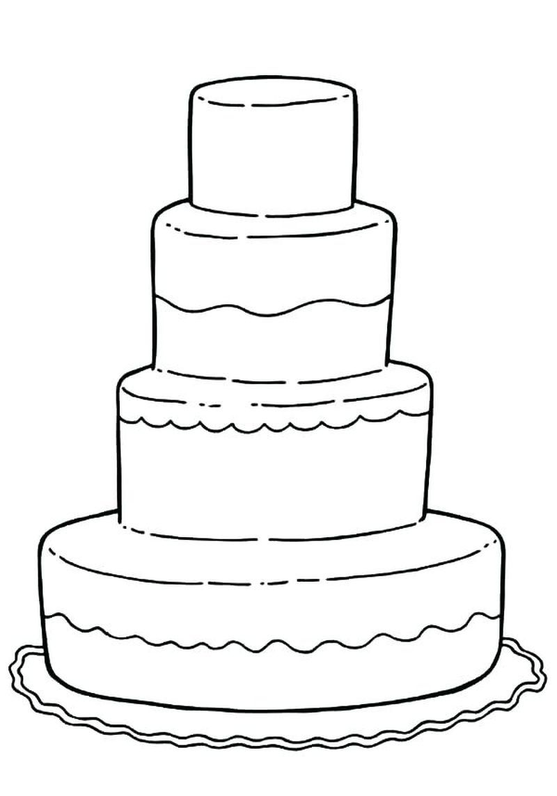 Collectin Of Birthday Cake Coloring Pages To Print Kids Wedding Activities Wedding With Kids Kids Table Wedding