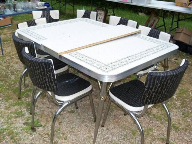 Retro Hanbury House Retro Dining Table Dinette Sets Vintage Kitchen Table