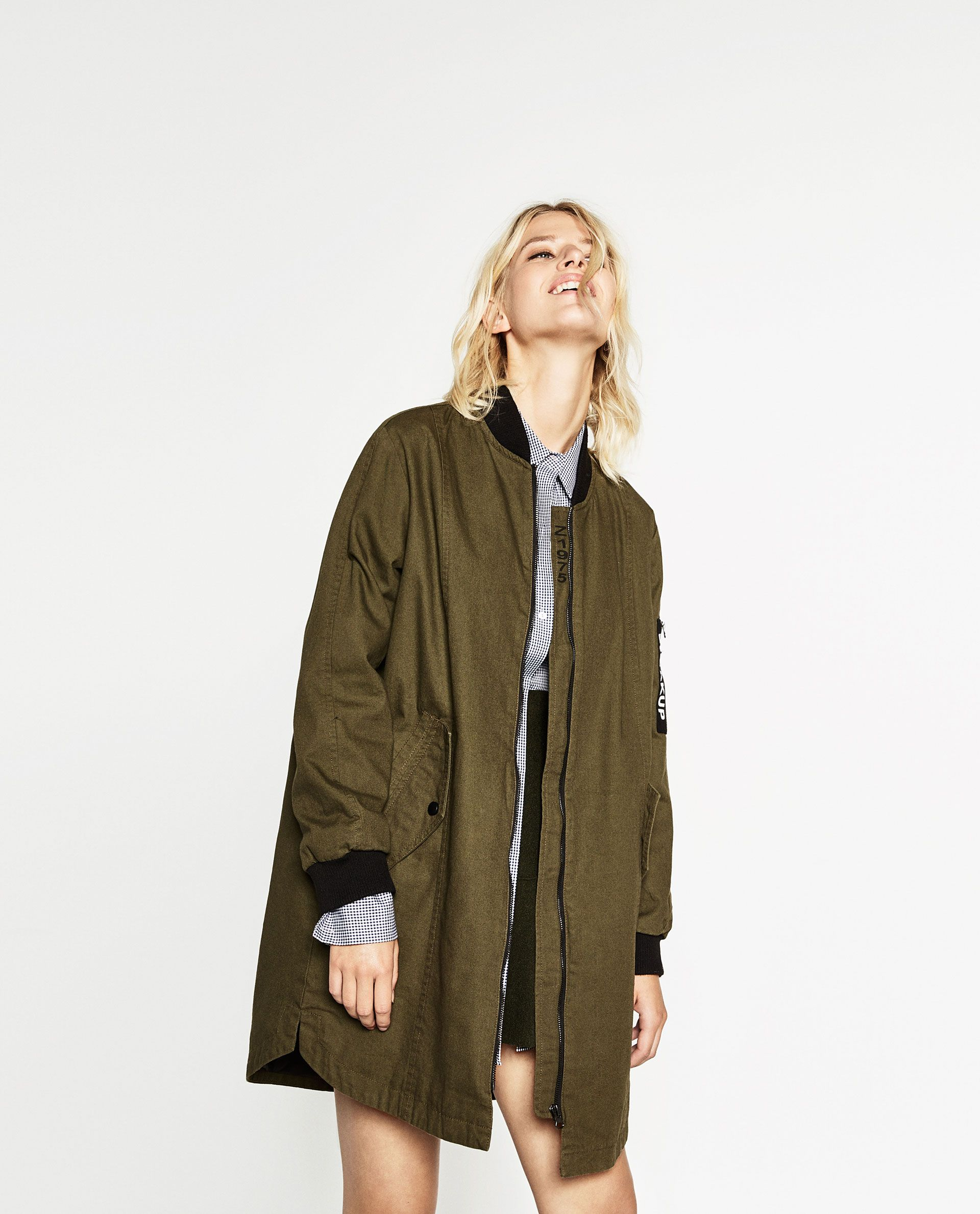 Long Bomber Jacket New In Woman Long Bomber Jacket Coats Jackets Women Long Coat Women [ 2379 x 1920 Pixel ]