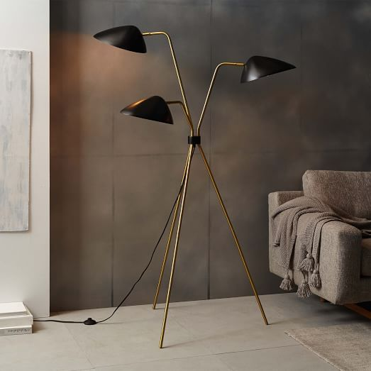 Curvilinear mid century floor lamp havenly