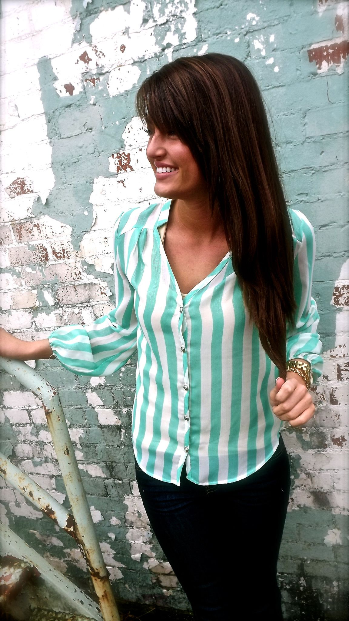 mint stripes