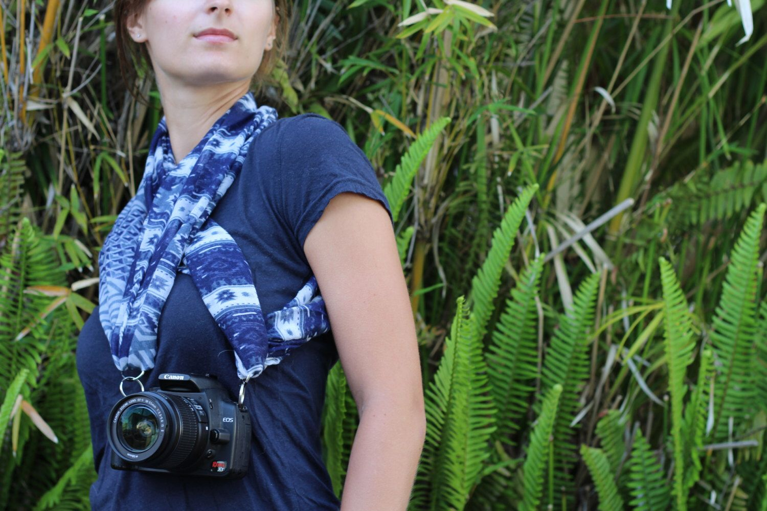 ❤️❤️Camera Scarf on Etsy-Each of our Camera Scarfs can be worn at least 10 different ways and can be used with binoculars! Our Camera Scarf can even be worn separately as a scarf by itself!