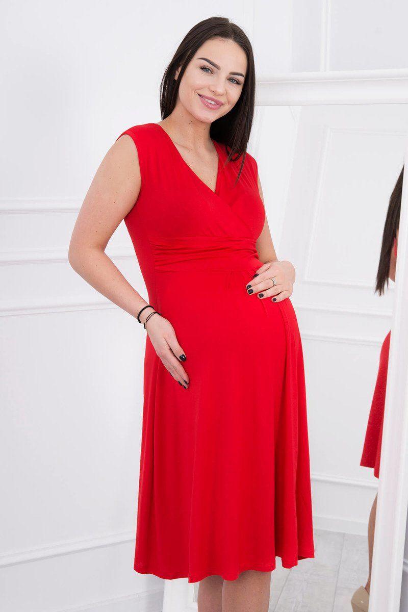 7b7f8b3d9 Červené tehotenské šaty vo veľkosti S - 2XL, cíť sa pohodlne a trendy Tehotenské  šaty