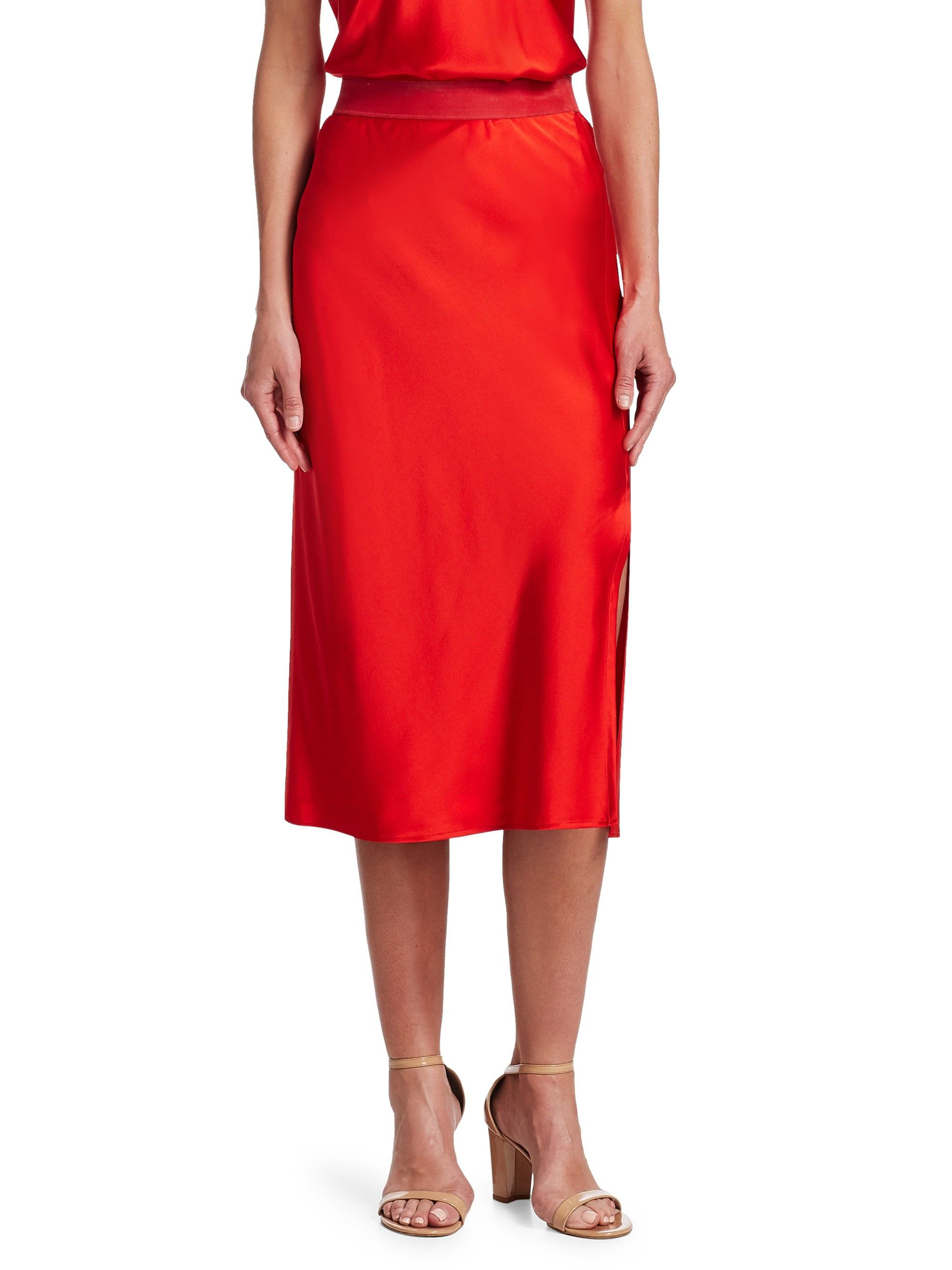 6571cffb74ce Silk Slip Skirt by Theory | Products | Slip skirts, Silk slip, Skirts