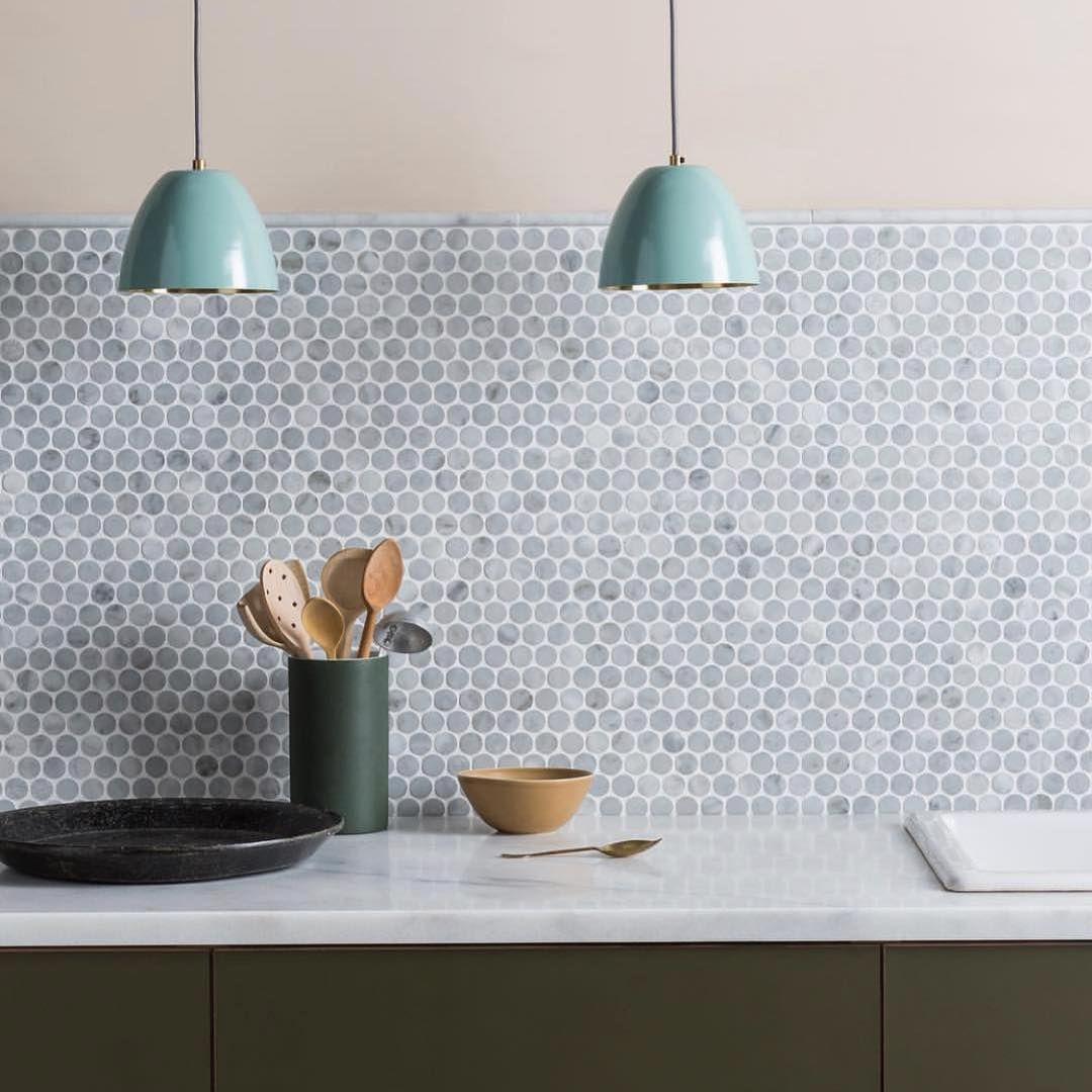 Pin By Kloey Bam On Kitchen Ideas Penny Tiles Kitchen Kitchen Splashback Tiles Diy Kitchen Decor Penny tile backsplash kitchen