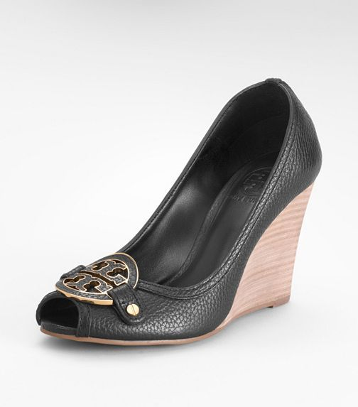 09caaa811b2ef These are my most comfortable work shoes!! Worth every penny  ) Tory Burch  Amanda High Peep Toe Wedge