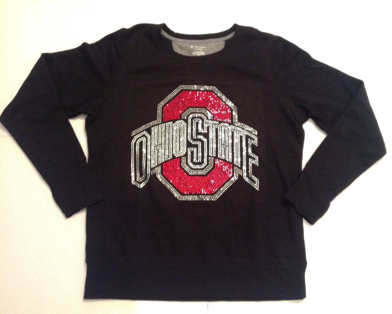 c21a31cd Womens Black Ohio State University (OSU) Rhinestone Sweatshirt in Size  Large. Gorgeous bling