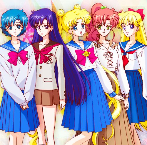 Sailor Moon Crystal - Ami, Rei, Serena, Lita y Mina
