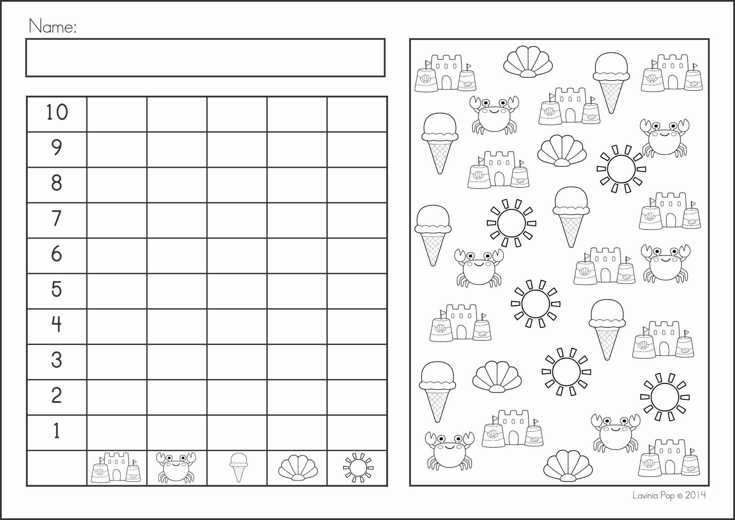 Summer Review Kindergarten Math Amp Literacy Worksheets Amp Activities