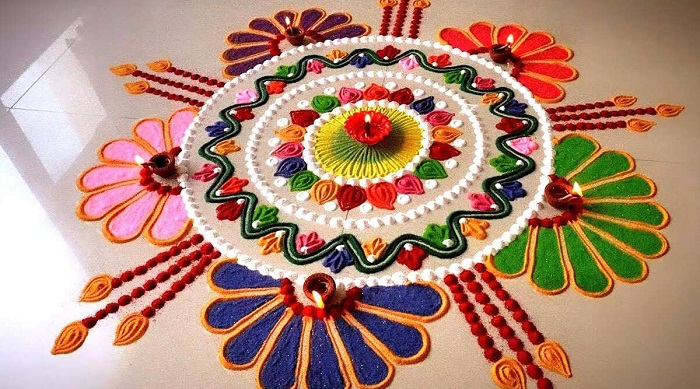 First Day Of Hindu New Year - Gudi Padwa 2020 : Rangoli Designs For Gudi  Padwa in 2020 | Diy diwali decorations, Rangoli designs, Diwali decorations