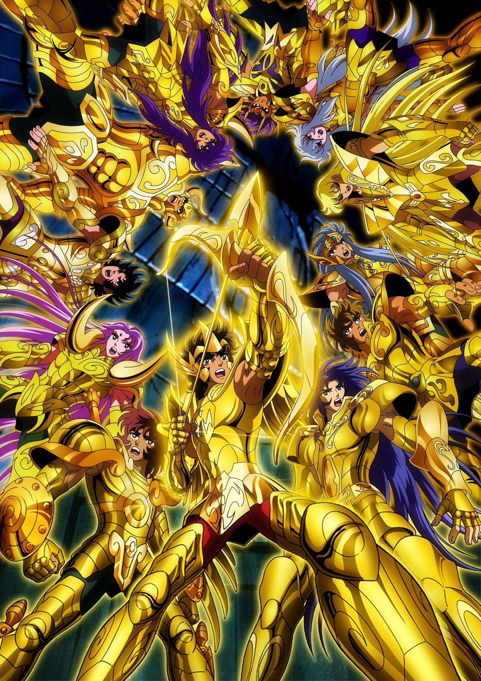 Santos De Oro Muro De Los Lamentos Cavaleiros Do Zodiaco Anime