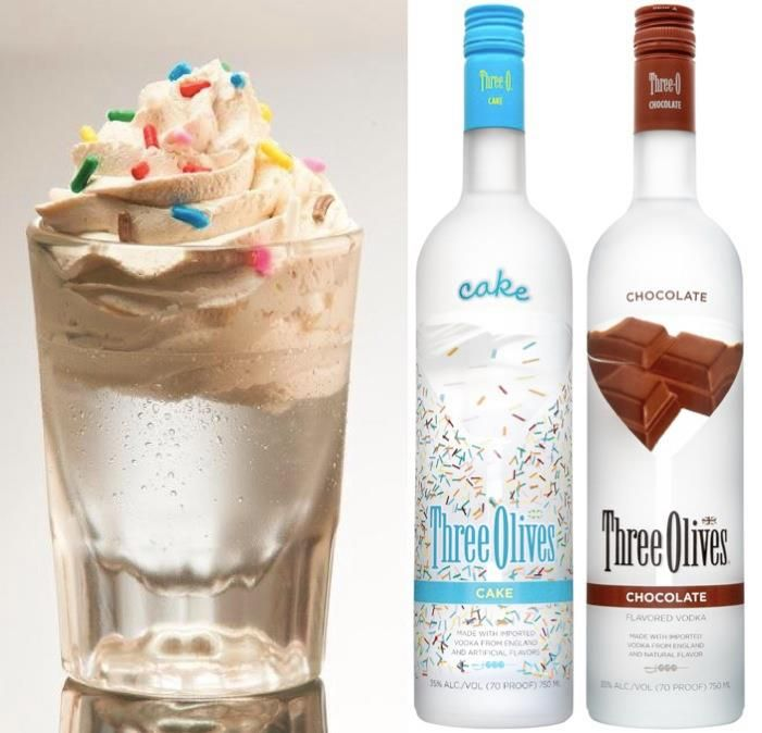 "Chocolate Cake Shooter."" 1 part Three Olives Cake Vodka 1 part ..."