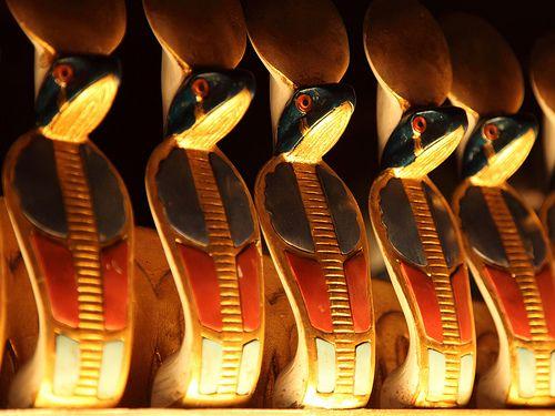 Tutankhamun in Barcelona  Detail in the tomb.