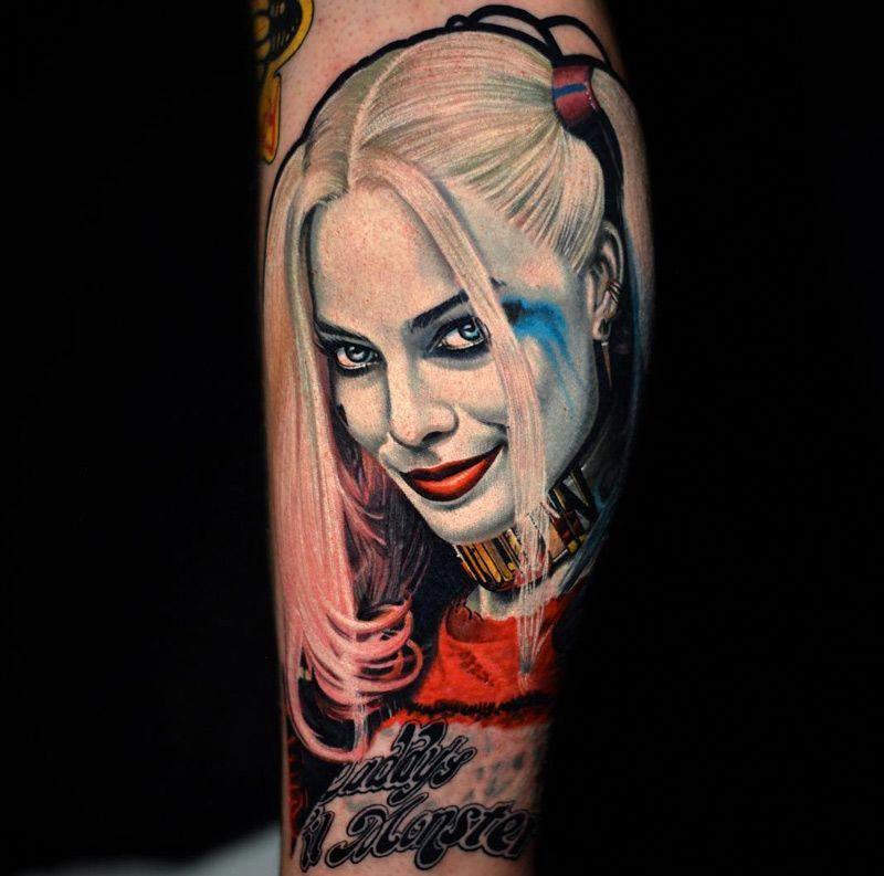 47+ Astonishing Harley quinn suicide squad arm tattoo image HD