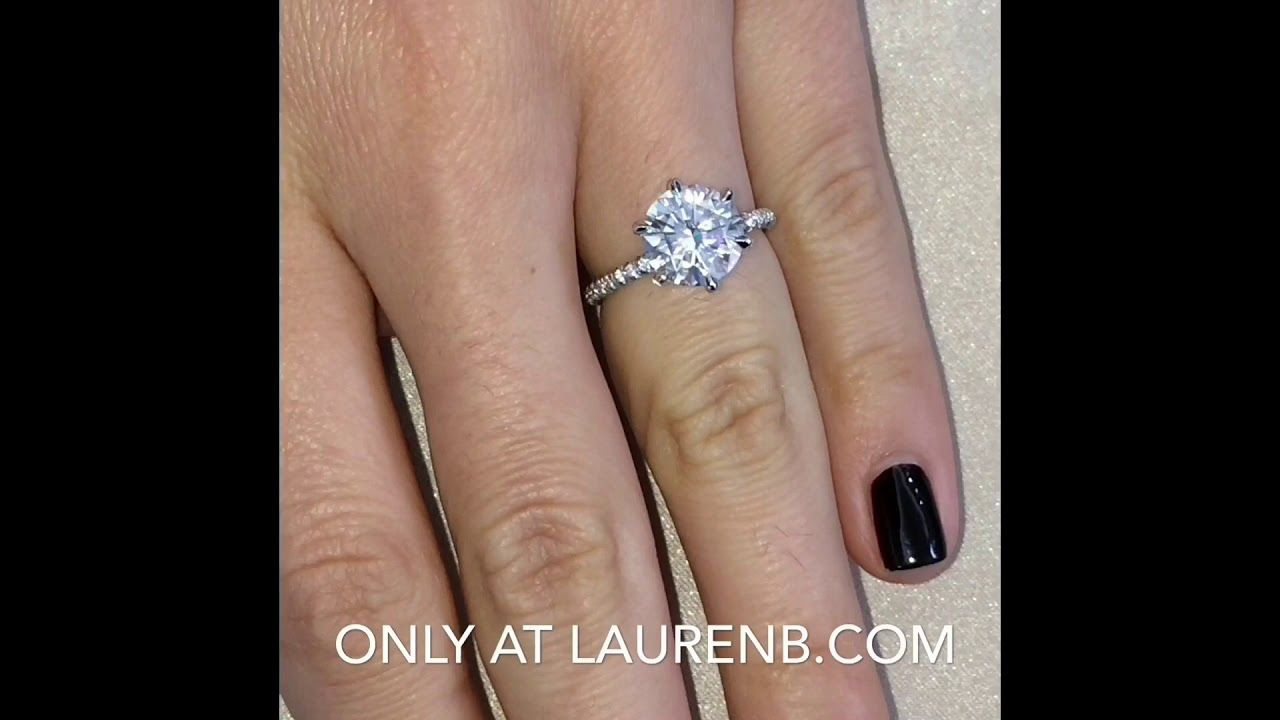 2 7 Ct Round Moissanite Engagement Ring Round Moissanite Engagement Ring Engagement Rings Diamond Engagement Rings
