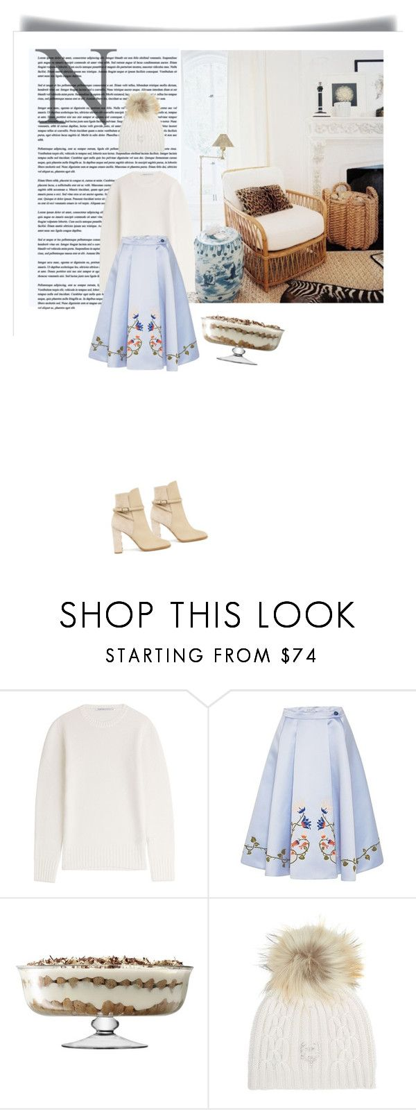 """""""Untitled #1068"""" by mercedesrenee ❤ liked on Polyvore featuring Agnona, VIVETTA, LSA International, M. Miller and Burberry"""
