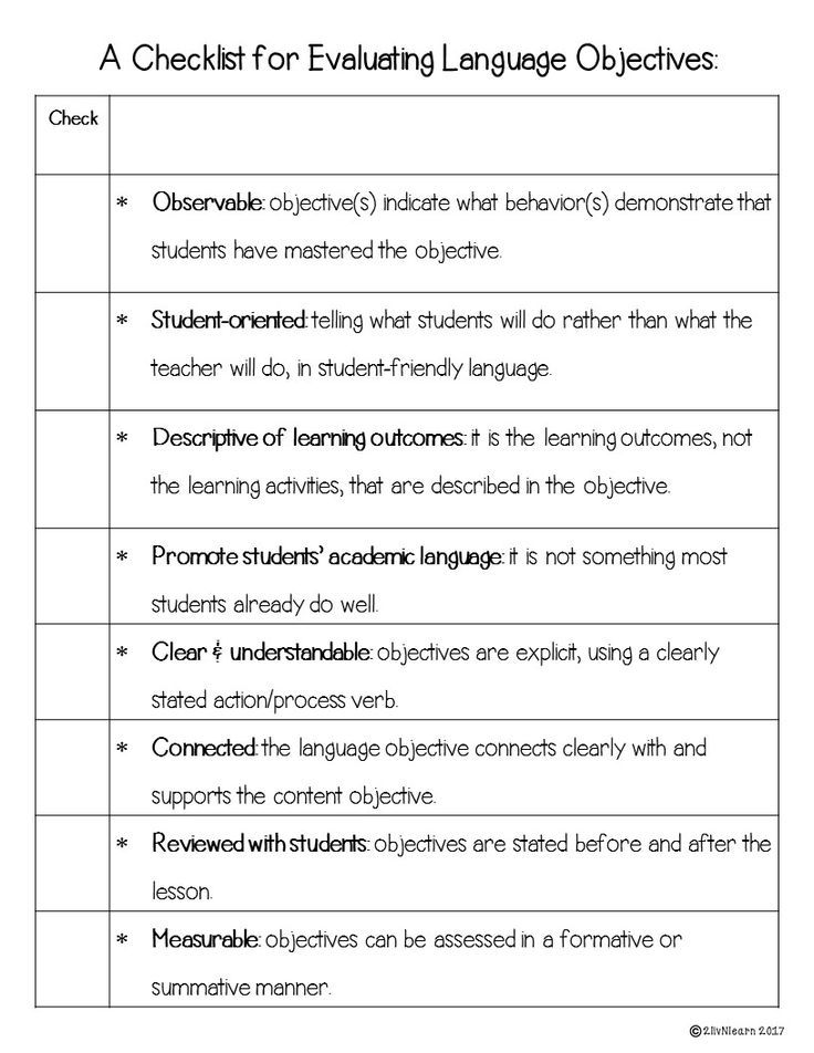 Use This Checklist To SelfEvaluate Both Your Content And Language