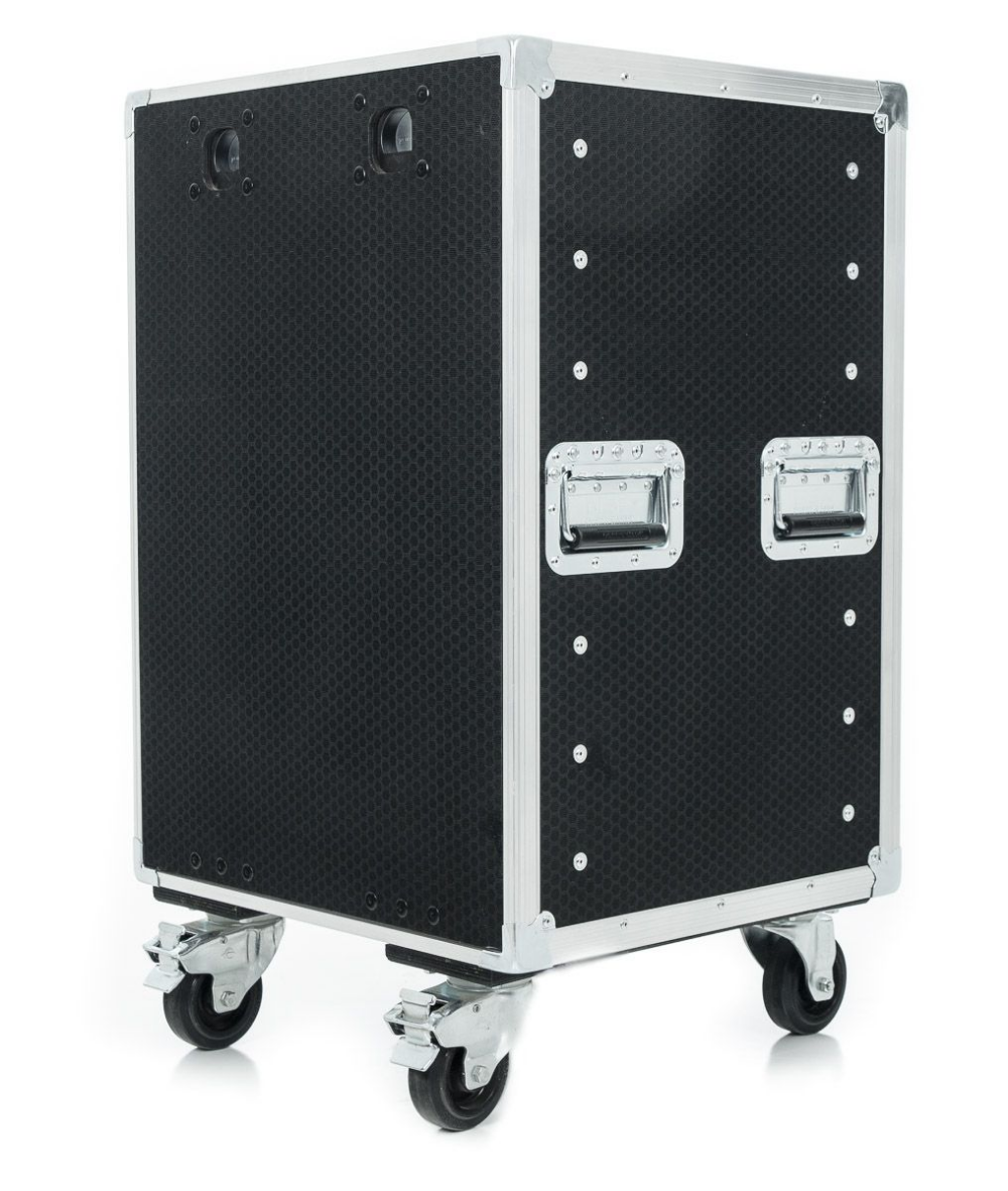 12u Slam Lid Rack Flight Case With Wheels Rack Slammed Case