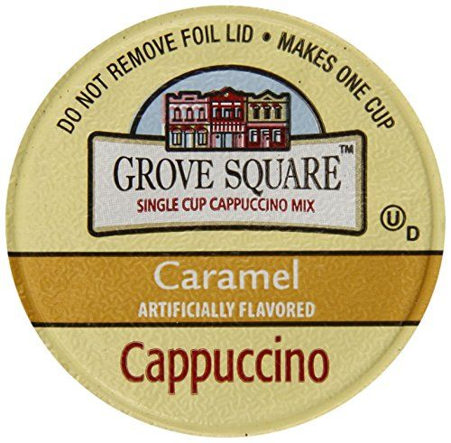 Grove Square Cappuccino, Caramel, 24-Count Single Serve Cup for Keurig K-Cup Brewers - http://teacoffeestore.com/grove-square-cappuccino-caramel-24-count-single-serve-cup-for-keurig-k-cup-brewers/