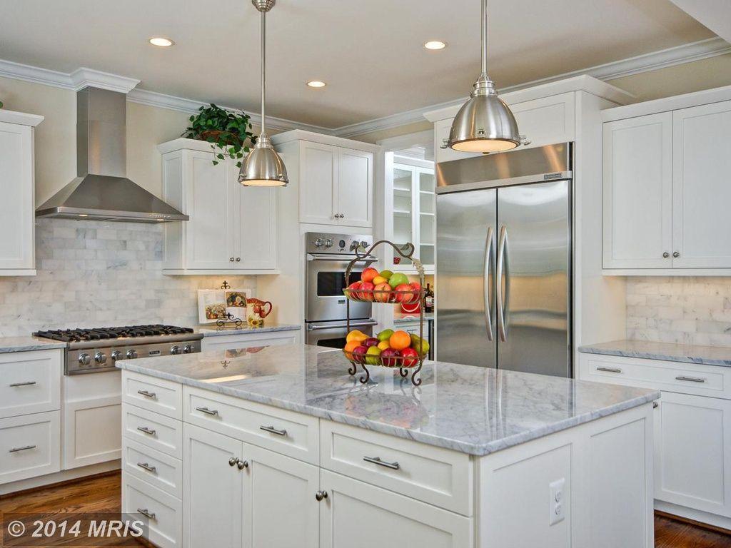 Best Transitional Kitchen With Kitchen Island Flat Panel 640 x 480