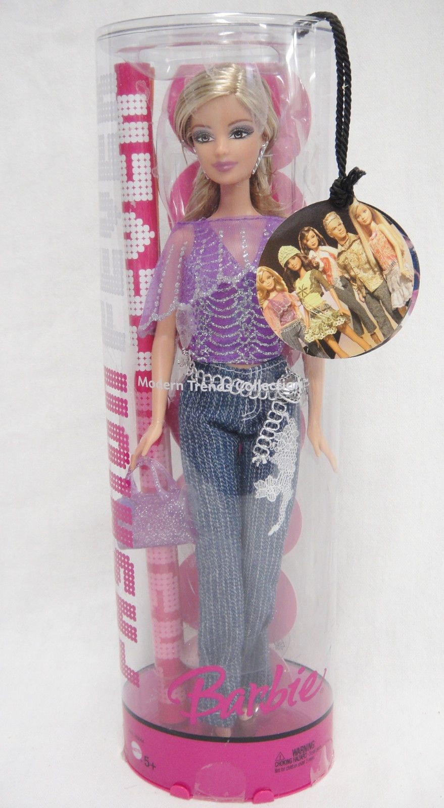 Fashion Fever Barbie Purple Top Pin Striped Jeans Modern Trends Collection | eBay