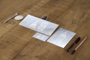 Carte Simple Et De Visite Papier Metallise Or Argent