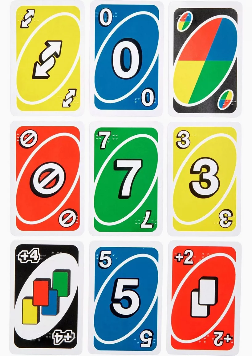 Uno Introduces A Braille Deck For Visually Impaired Players Uno Cards Uno Card Game Card Games