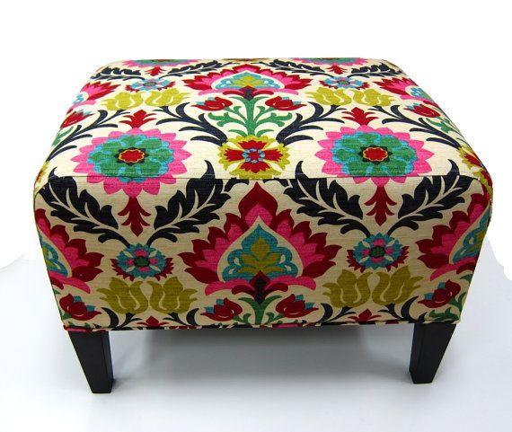 Modern Ikat Fabric Upholstery Fabric by the by greenapplefabrics ...
