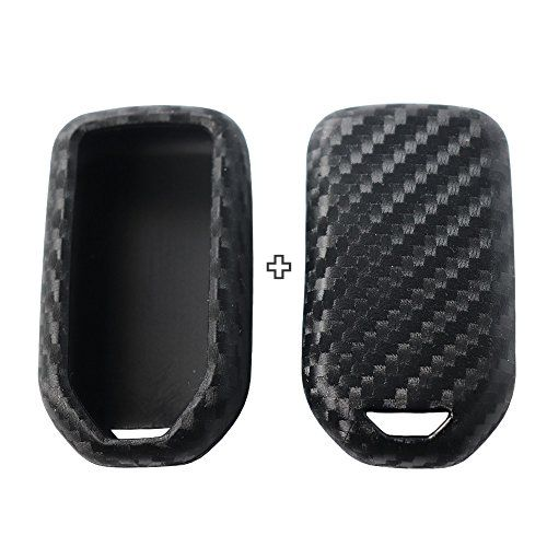 2Pack Silicone Carbon Fiber Pattern Car Key Case Cover