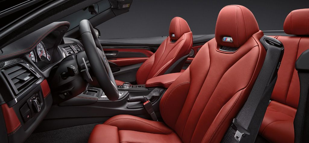 The Bmw M4 Convertible In Sakhir Orange Merino Leather And Carbon