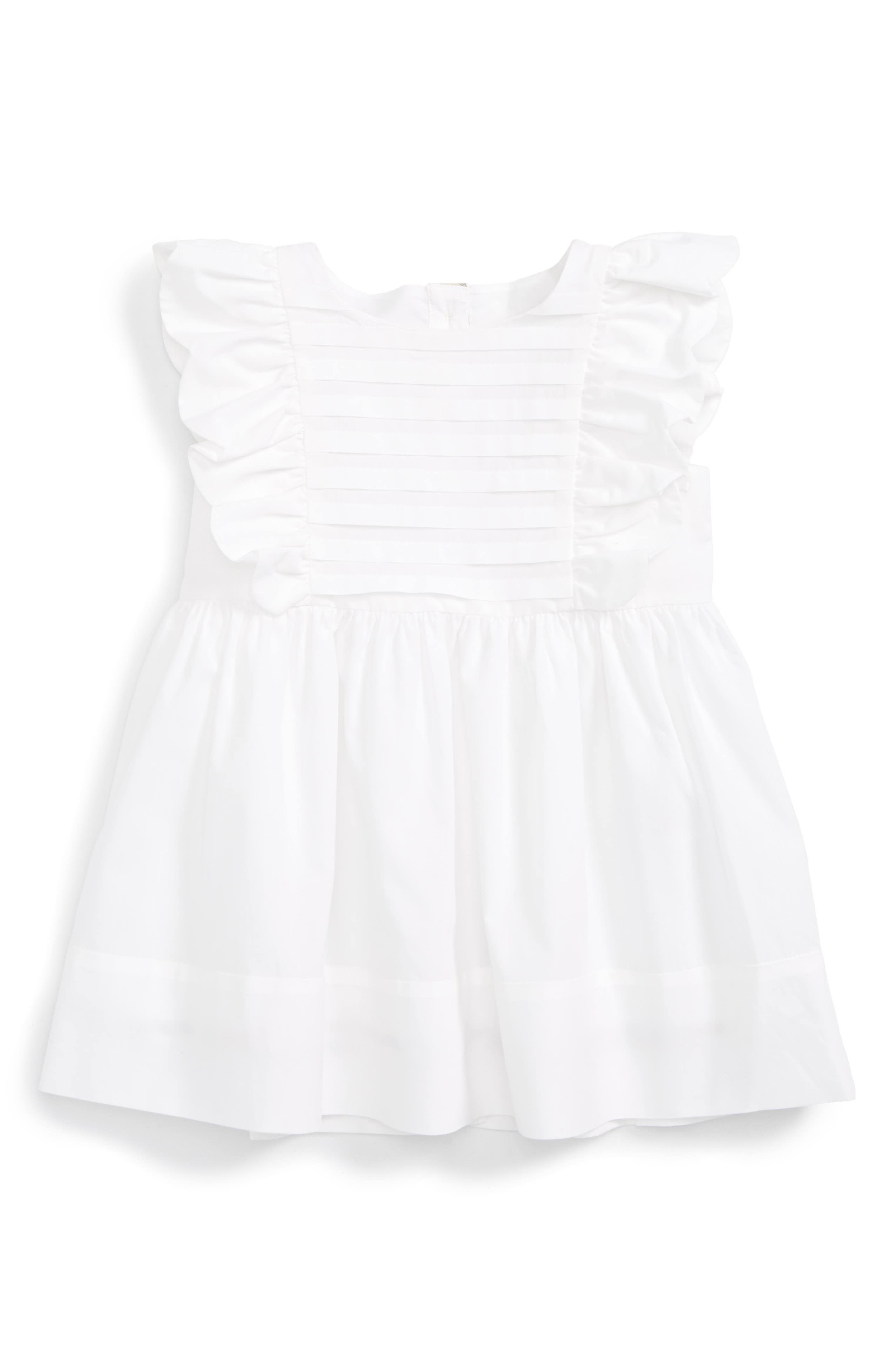 Main Image Burberry Carrie Pleated Dress Baby Girls & Toddler