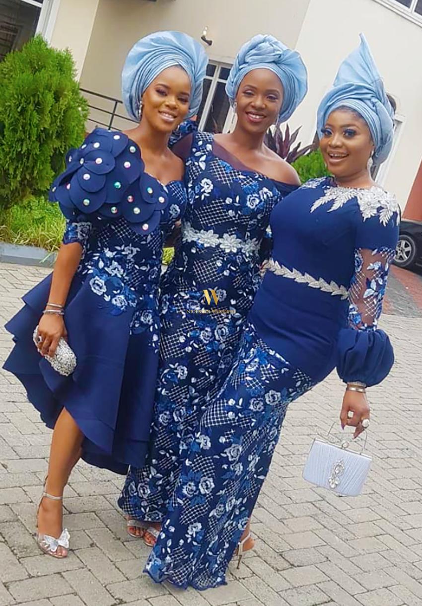 Pin Worthy Fabulous Aso-ebi Styles From #TheTTAffair You'd Like #nigeriandressstyles