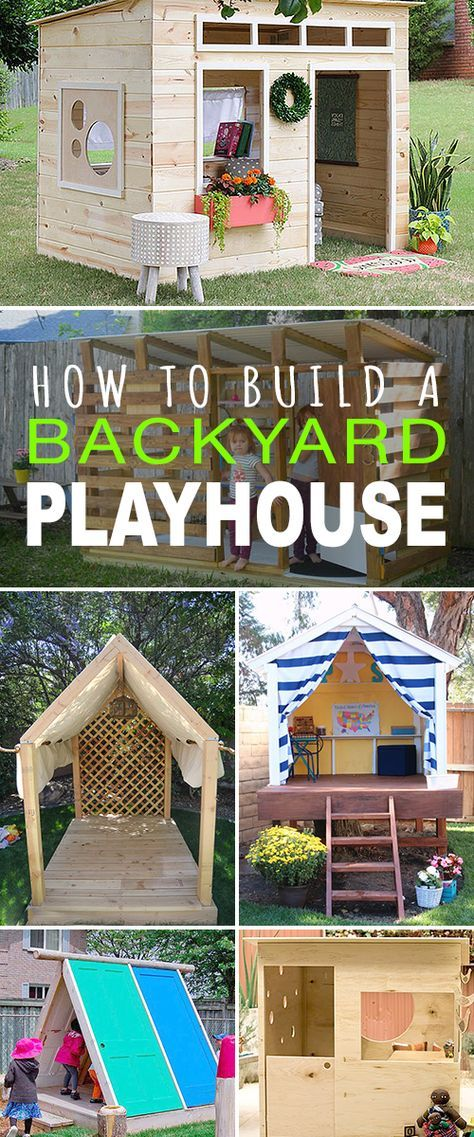 How to Build a Backyard Playhouse | sweet home | Pinterest ... Backyard Fort Ideas Blueprints Html on