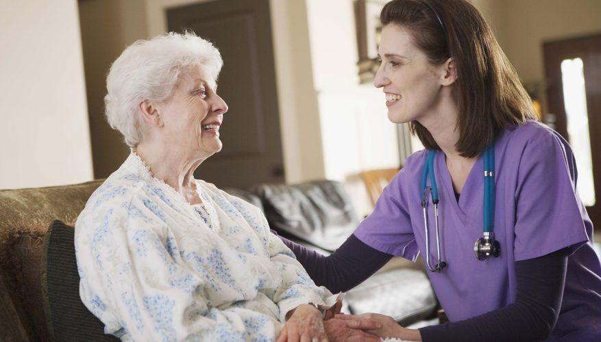 Nurse Smiling With Patient At Home Home Health Nurse Nursing