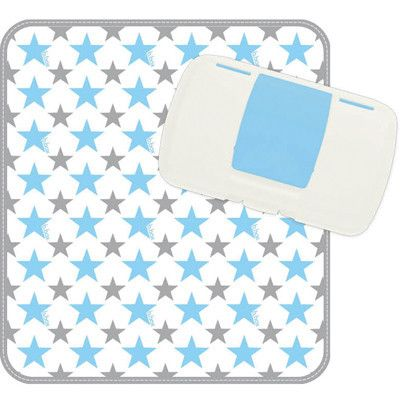 b.box Diaper Wallet Handy Nappy & Wet Wipes Travel Pack with Changing Mat Nappy Changing Changing Sets Shining Star