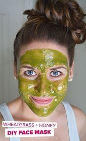 Weizengras und Honig Gesichtsmaske – Dieses einfache Rezept für Gesichtsmasken … – Kathrin Barth | Kathrin Barth + Hautpflege Tipps