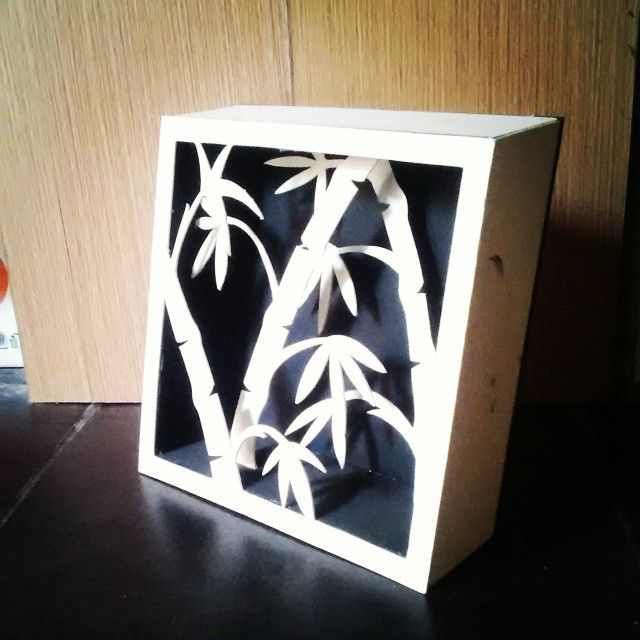 3D cutting hard paper, finished with paint.