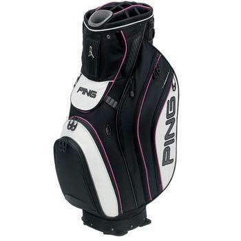 Ping Pioneer Golf Cart Bag Black White Pink
