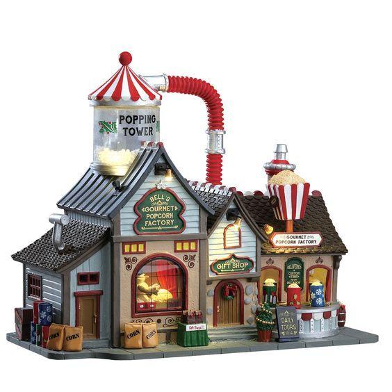 Lemax Bell\'s Gourmet Popcorn Factory verlicht kersthuisje Harvest ...