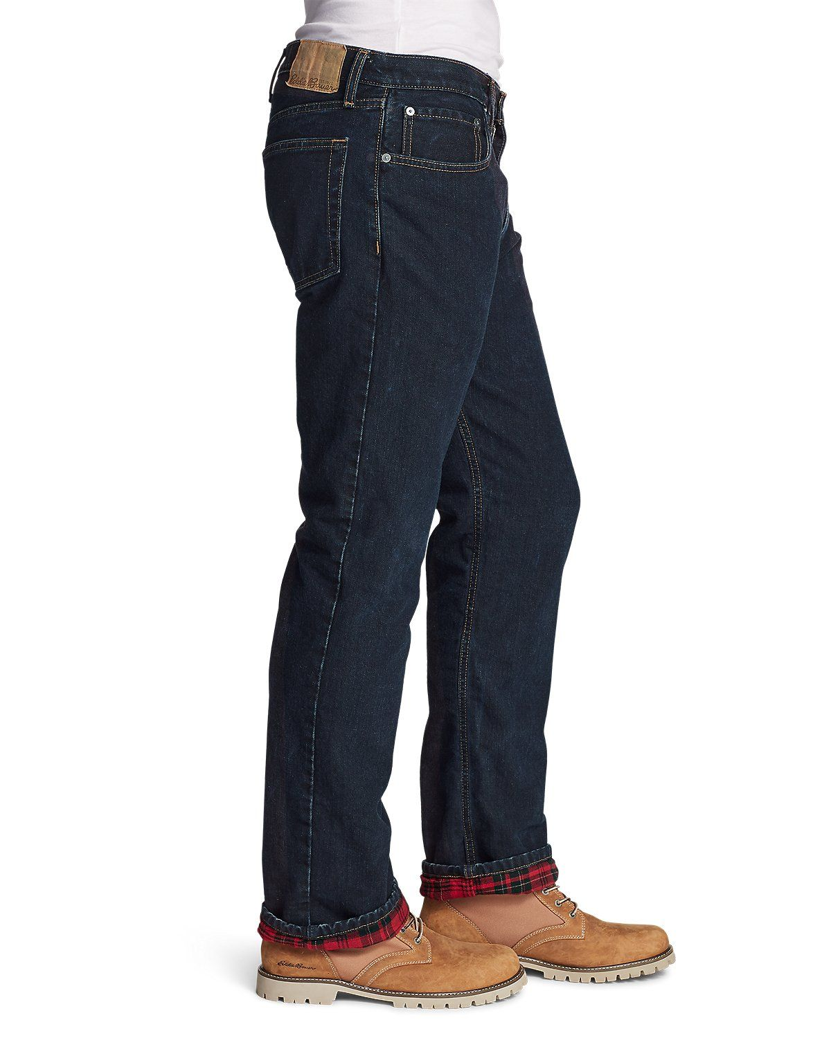 Men's Flannellined Jeans Relaxed Fit Eddie Bauer