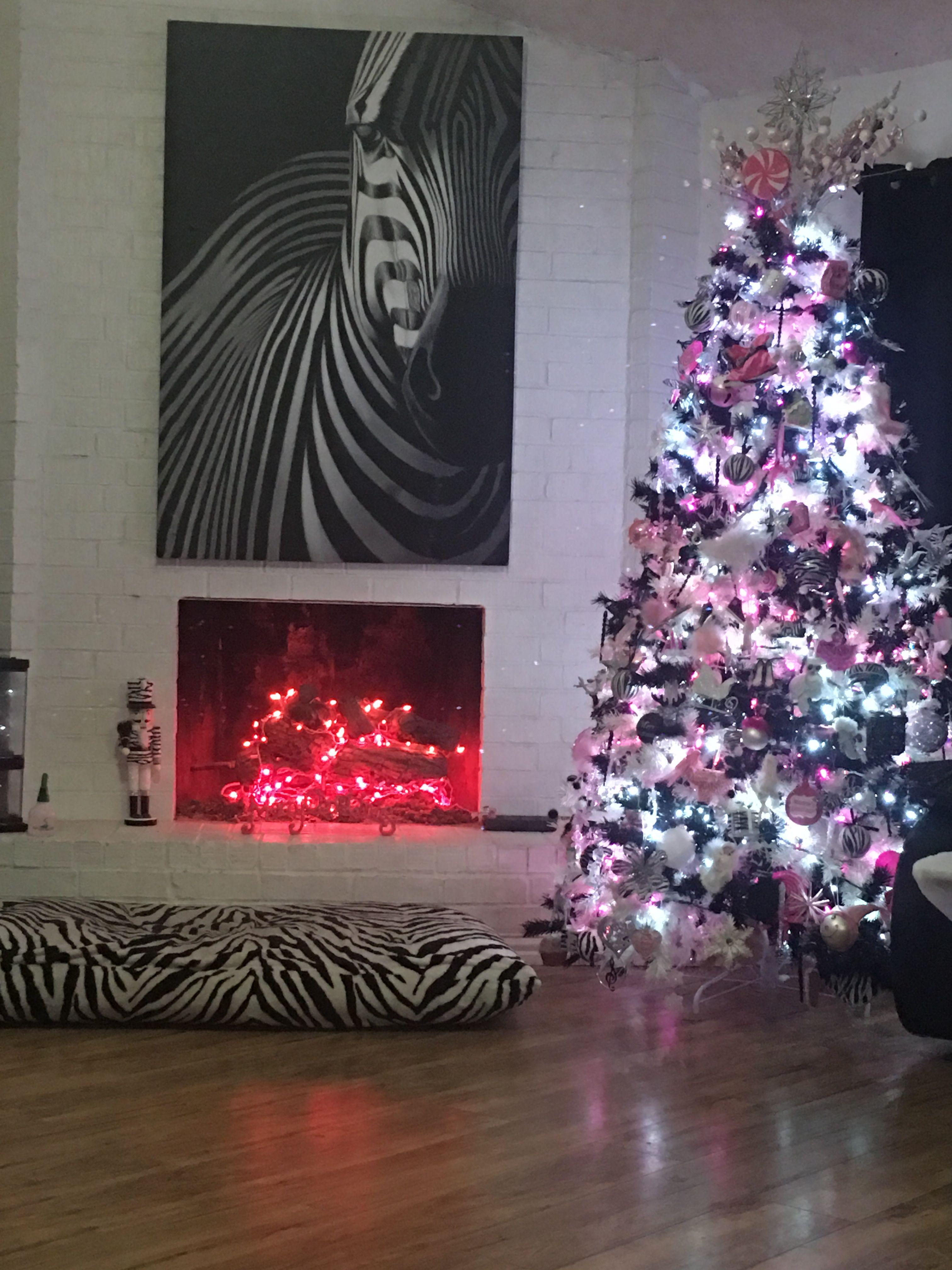Zebra Christmas | Holiday decor, Pink christmas, Pink ...