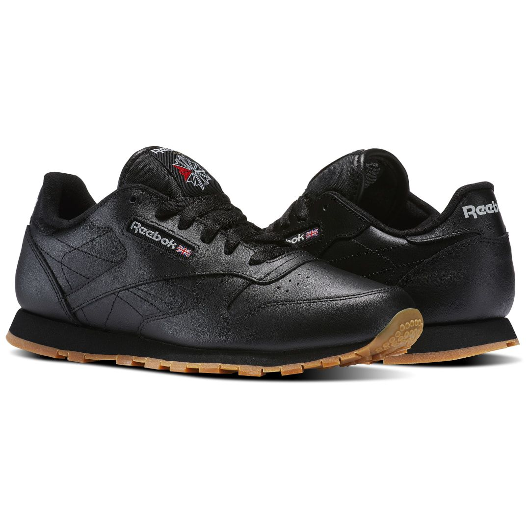 Reebok Kids Classic Leather Shoes Grade School in Black