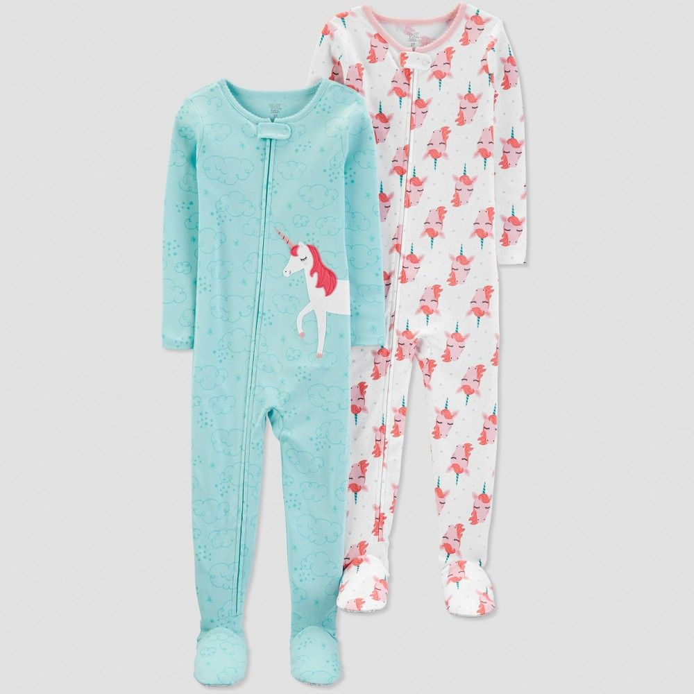 Toddler Girls 2 Piece Pajamas Im Snow Cute Size 3T Just One You by Carters NWT