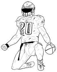football player coloring page # 17