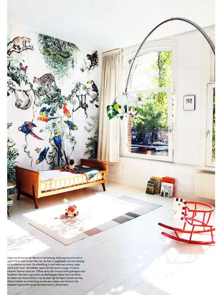 envies d co 1 la tendance papier peint entre floral et tropical kids rooms room and bedrooms. Black Bedroom Furniture Sets. Home Design Ideas