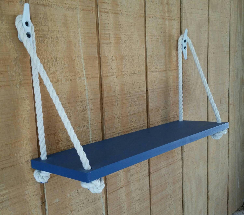 Swing Rope Shelf Nautical Nursery Nautical Organization By Barnmade4u On Habitacion Para Bebes De Estilo Nautico Estantes Colgantes Decoracion Faro